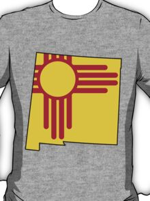 New Mexico Flag [Blk] | State Line | SteezeFSC T-Shirt