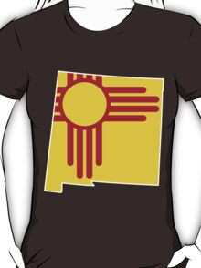 New Mexico Flag [Wht] | State Line | SteezeFSC T-Shirt