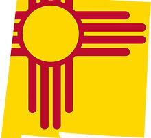 New Mexico Flag | State Line | SteezeFSC by FreshThreadShop