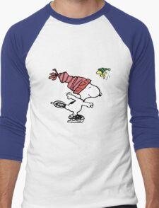 Snoopy Skating Men's Baseball ¾ T-Shirt
