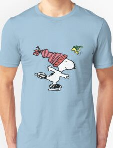 Snoopy Skating Unisex T-Shirt