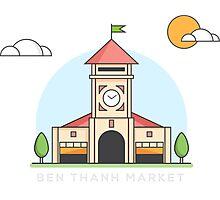 Ben Thanh Market Photographic Print