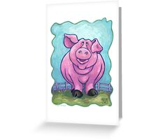 Animal Parade Pig Greeting Card