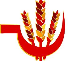 Wheat and sickle  - Symbol of People's Union of India  by SofiaYoushi