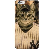 Baseball cat (2) iPhone Case/Skin