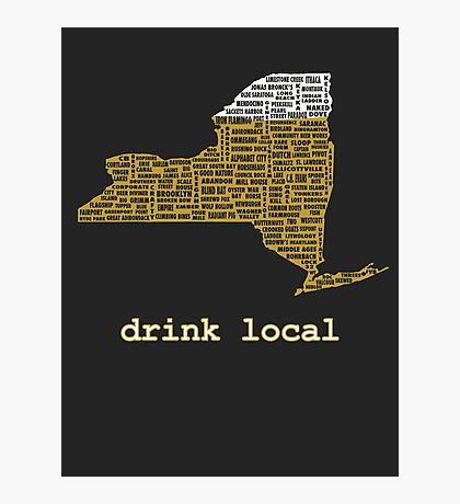 Drink Local (NY) Photographic Print