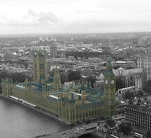 Palace of Westminster and Big Ben (Vintage Look) by maplewellsphoto