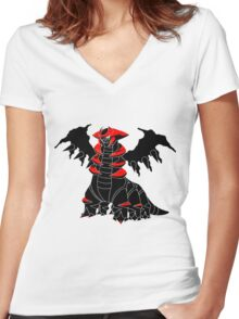 Pokemon - Giratina Women's Fitted V-Neck T-Shirt