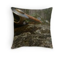 Mayfly and Fly Rod Throw Pillow