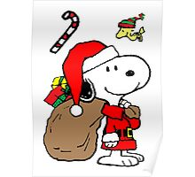 Snoopy Claus is Coming Poster