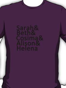 Orphan Black Clone Club (without Katja) T-Shirt