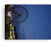 Amusement Park At Night Canvas Print