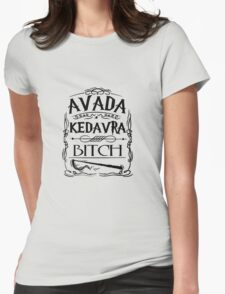 Harry Potter Avada Kedavra  Womens Fitted T-Shirt