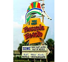 Welcome to P'Cola Beach Photographic Print