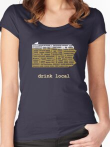 Drink Local (PA) Women's Fitted Scoop T-Shirt
