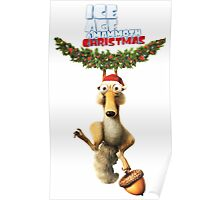CHRISTMAS SCRAT ICE AGE Poster