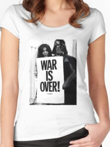 Darth Vader with Yoko Ono Women's Fitted Scoop T-Shirt