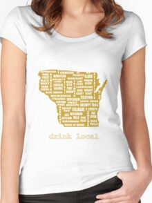 Drink Local (WI) Women's Fitted Scoop T-Shirt
