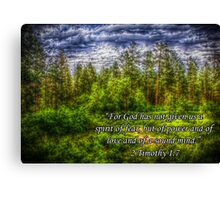 HDR Mountain Forest w/Scripture Canvas Print