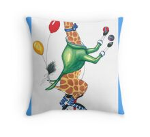 Circus Giraffe Throw Pillow