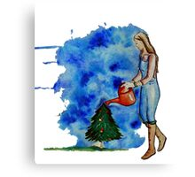 Waiting for Christmas Canvas Print