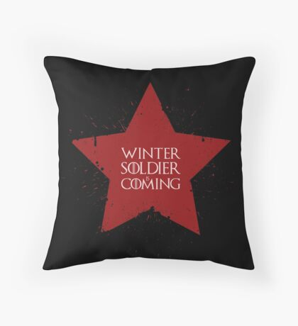 Winter Soldier is Coming Throw Pillow