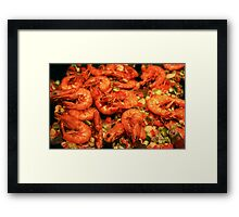 Spicy Shrimp! Framed Print