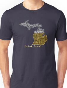 Drink Local (MI) (with Outline) Unisex T-Shirt