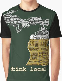 Drink Local (MI) (with Outline) Graphic T-Shirt