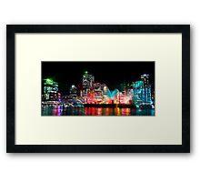 Brisbane City of Lights Framed Print