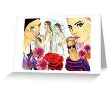 Spring runway beauty 2013 Greeting Card