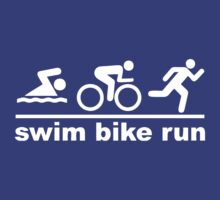 Bike Swim Run (dark) by KraPOW