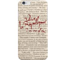 Grantaire Quotes + Vive la République iPhone Case/Skin