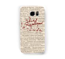 Grantaire Quotes + Vive la République Samsung Galaxy Case/Skin