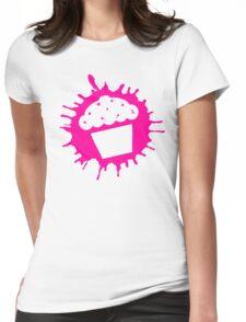 cupcake splats Womens Fitted T-Shirt