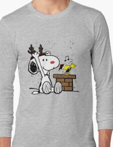 Snoopy and Woodstock Christmas Long Sleeve T-Shirt