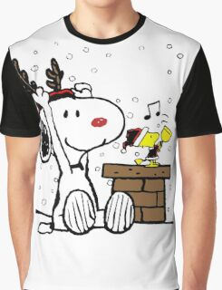 Snoopy and Woodstock Christmas Graphic T-Shirt