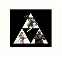 Link, Zelda, and Ganondorf Art Print