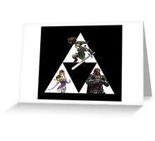 Link, Zelda, and Ganondorf Greeting Card