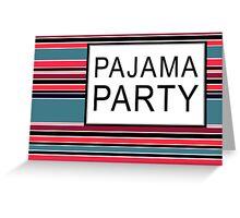 striped pajamas Greeting Card