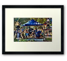 Television Production Framed Print