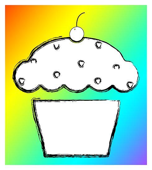 grunge cupcake by maydaze