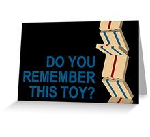 do you remember this toy? Greeting Card