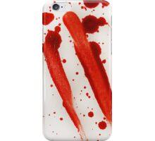 Blood Spatter Swipe iPhone Case/Skin