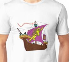 A 13th century English Fighting Ship T-shirt Unisex T-Shirt