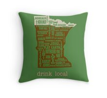 MN Drink Local Throw Pillow