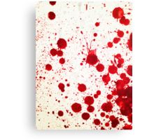 Blood Spatter 2 Canvas Print