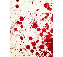 Blood Spatter 2 Photographic Print