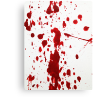 Blood Spatter 12 Canvas Print