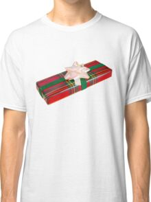 Wrapped Gift With Tartan Paper Classic T-Shirt